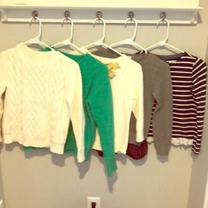 Crewcuts sweaters and shirts girls size 10